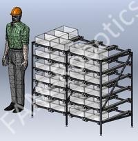 гравитационные стеллажи для склада и производства