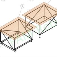 комплект раздвижных столов