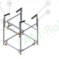 стол с креплениями для панели